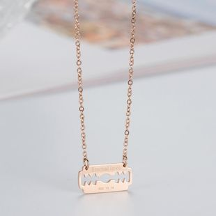 Necklace Korean rose gold Eternal love clavicle chain holiday gift NHIM182323's discount tags