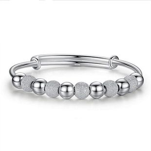 Silver plated bracelet female transfer beads bracelet silver bracelet transfer beads silver jewelry wholesale NHQL182485's discount tags