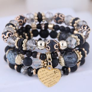 Bohemian mix and match metal peach temperament multilayer bracelet NHSC181215's discount tags