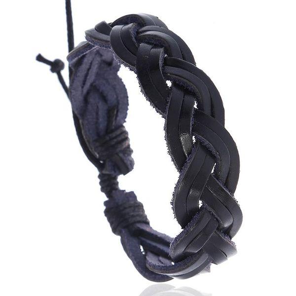 New accessories retro leather bracelet simple woven leather bracelet bracelet wholesale NHPK182365