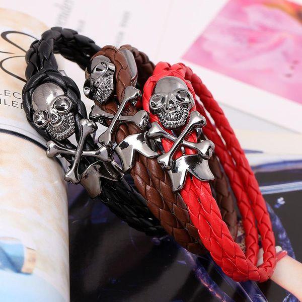 Wholesale Leather Bracelet Leather Jewelry PU Leather Bracelet Japan and South Korea Jewelry Woven Leather Bracelet NHPK182401