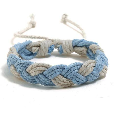 Nouveau bracelet de couple de corde de chanvre coloré style ethnique bracelet tissé à la main bijoux simples NHPK182407's discount tags