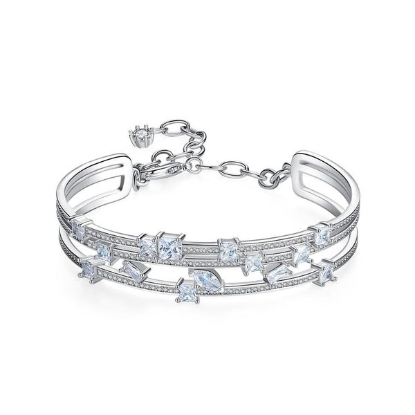 Bracelet New Fashion Korean women copper inlaid zirconium bracelet with extension chain bracelet gift NHTM182423