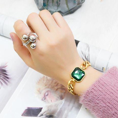 Bague en acier Double anneau réglable Pentagram Lucky Ring NHOK182459's discount tags
