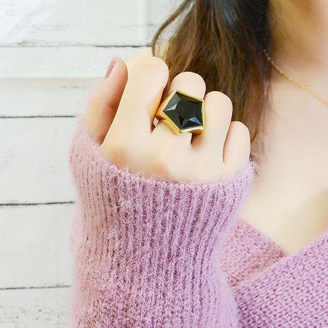 Mode naturel pierre noire sauvage bague en gros NHOK182462's discount tags