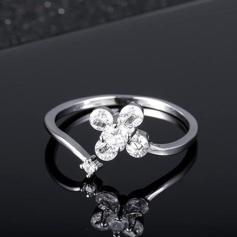 Bague papillon trèfle femme bijoux en argent 925 accessoires NHIM182329's discount tags