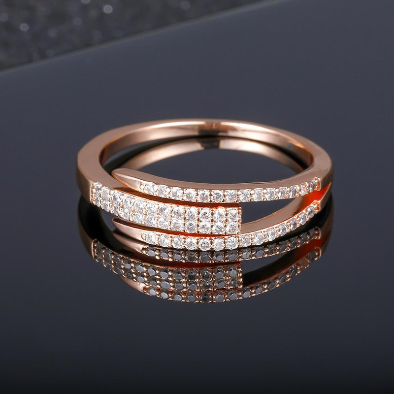 Rings women punk fashion open diamonds rings wholesale jewelry NHIM182342