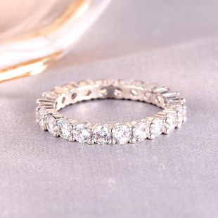 Hot sale single row diamond ring women rose gold tail ring jewelry wholesale NHIM182344's discount tags