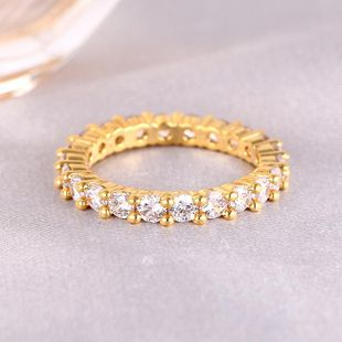 Hot sale single row diamond ring women rose gold tail ring jewelry wholesale NHIM182345's discount tags