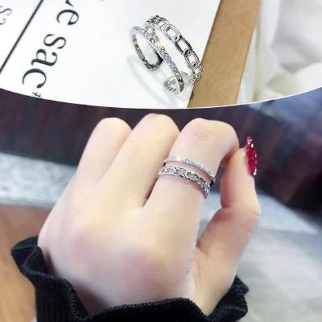 Bague femmes ouverture réglable lumière luxe anneau de doigt en gros bijoux de mode NHIM182349's discount tags
