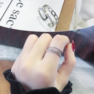 Ring women opening adjustable light luxury finger ring wholesale fashion jewelry NHIM182349