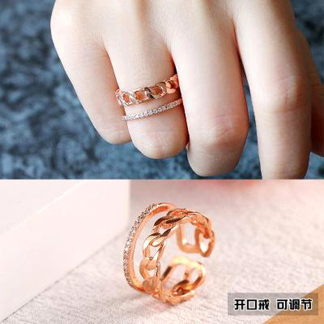 Bague femmes ouverture réglable lumière luxe anneau de doigt en gros bijoux de mode NHIM182350's discount tags