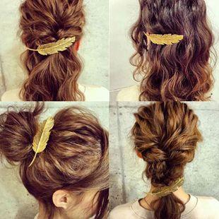 Alloy feather hair clip retro word clip fringe clip hair clip NHJJ182251's discount tags