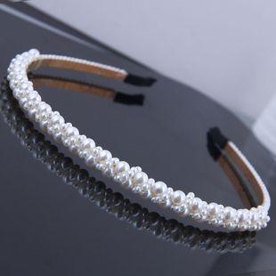Metal simple and elegant weaving pearl temperament hair accessories headband headband NHSC181234's discount tags