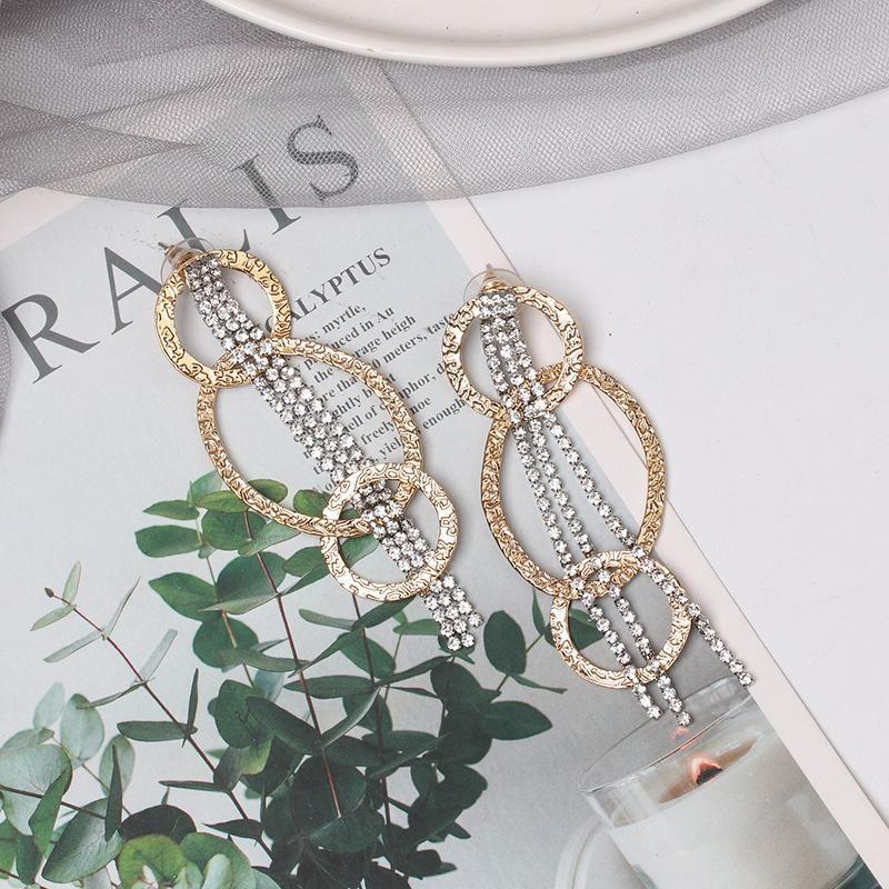 Long tassel earrings fashion earrings frosty wind earrings NHJJ182238
