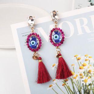 Fashion Bohemia Earrings Earrings Geometric Eye Tassel Long Stud Earrings NHJJ182239's discount tags