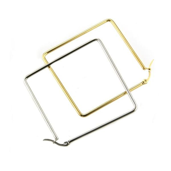 fashion jewelry wholesale stainless steel gold steel square large earrings NHBP182446