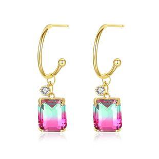 Painted Pottery Earrings New Color Earrings Sweet Women Earrings NHTM182411's discount tags