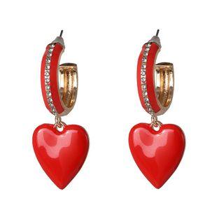 Heart Earring Fashion Diamond Paint Earrings for girls NHJJ182233's discount tags
