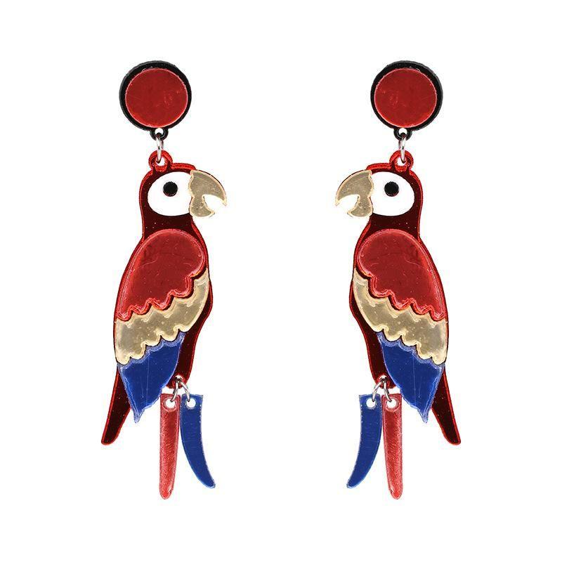 New parrot earrings women's jewelry earrings wholesale NHJJ182234