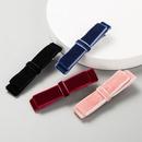Velvet bow hair clip simple fashion hairpin hair accessories accessory clip NHLN182263
