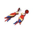 New parrot earrings womens jewelry earrings wholesale NHJJ182234