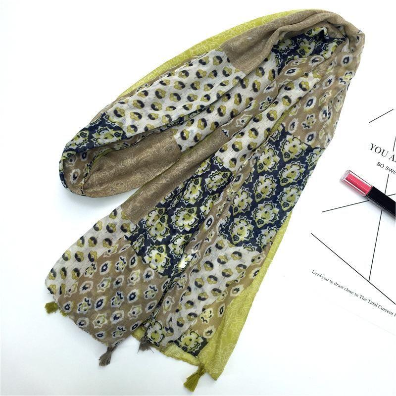 Bufanda de algodón color mezclado moda al por mayor de moda NHGD182176