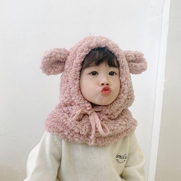 Cute warm hat bib children hat autumn and winter Korean men and women baby ear caps NHTZ182104