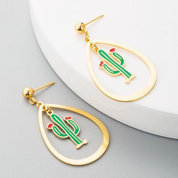 Fashion Girl Heart Flower Earrings Stainless Steel Drop Shape Long Tassel Earrings NHLN182825