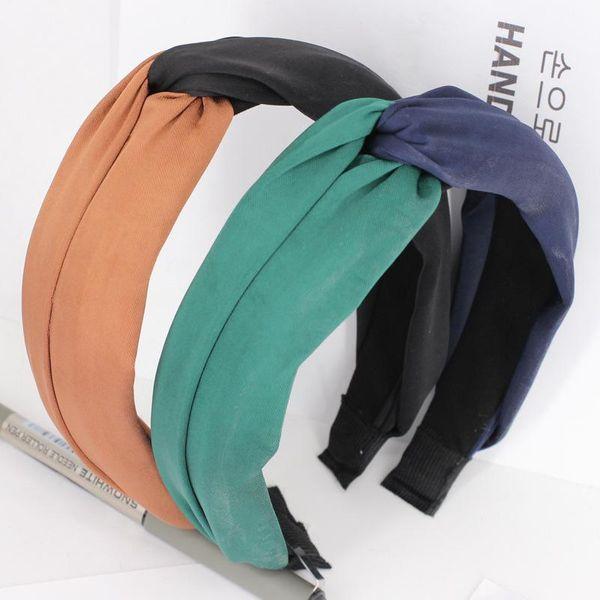 Cross hair hoop spring and summer wide Korean knot headband NHDM182693