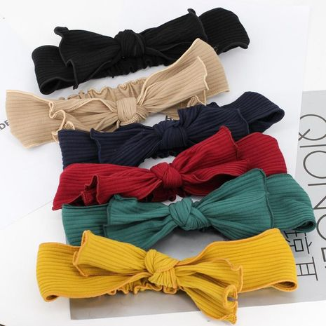 Autumn and winter sports cross plush knitted hair band face wash yoga headband NHDM182700's discount tags