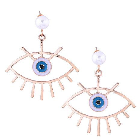 European and American fashion metal simple demon eye exaggerated earrings NHSC182515's discount tags