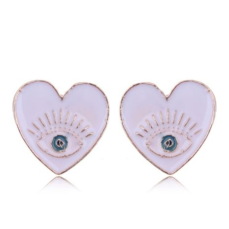 European and American fashion metal simple love demon eyes exaggerated earrings NHSC182530's discount tags