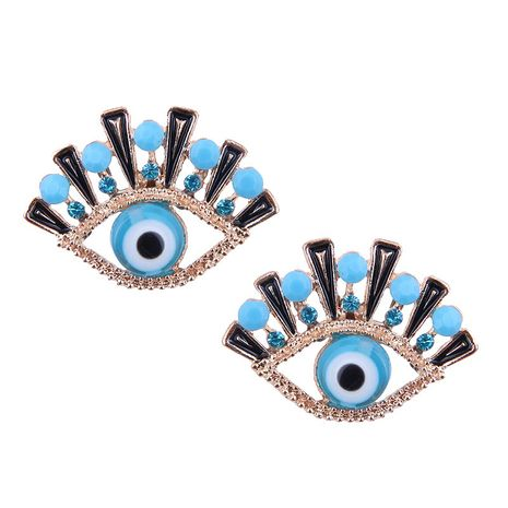 European and American fashion metal simple demon eye exaggerated earrings NHSC182532's discount tags