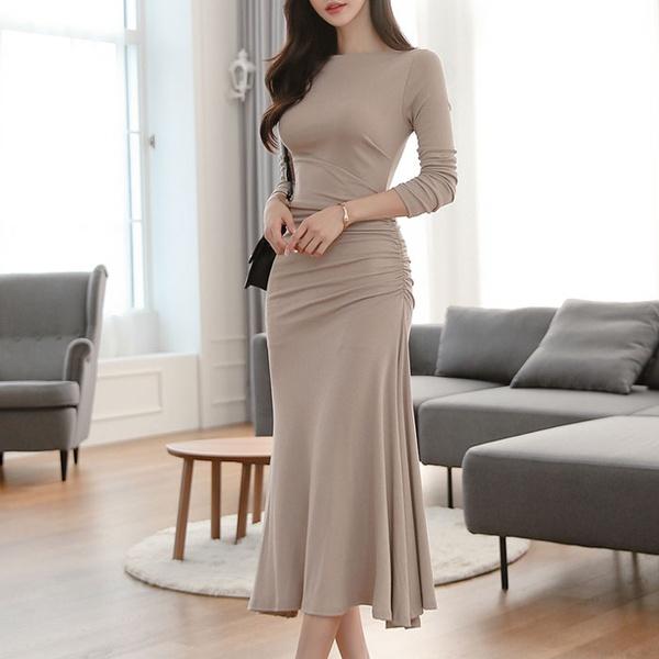 New fashion solid color slim bag hip temperament waist dress women NHJC182557