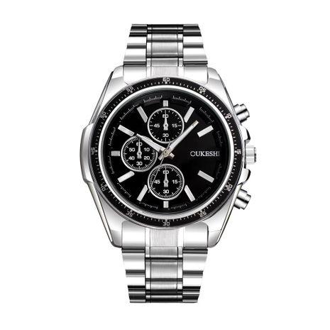 Reloj para hombre nuevo Reloj de cuarzo a prueba de agua Trend Business Six Pins Steel Band Retro Watch NHSY182813's discount tags