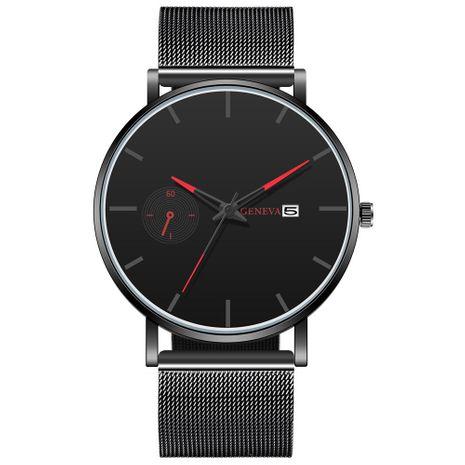 Nuevos hombres GENEVA Fake Monocular Calendar Mesh Watch Reloj de cuarzo Hombres NHHK182642's discount tags