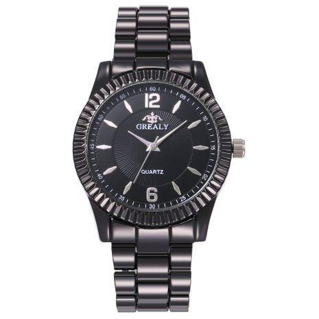 Nuevo reloj de aleación de moda de escala romana, reloj de banda de acero, reloj de cuarzo NHHK182649's discount tags