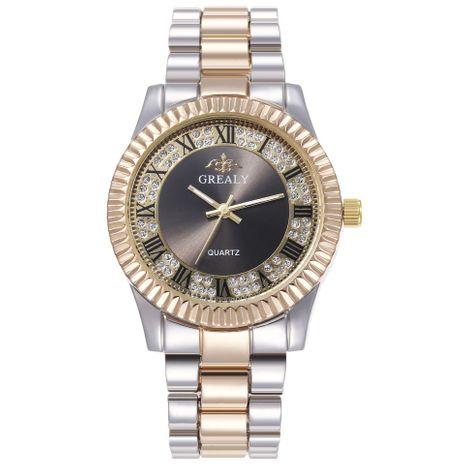 Nuevo reloj de aleación romana para adultos, conjunto de aleación de moda, reloj de banda de acero, reloj de cuarzo, venta al por mayor NHHK182650's discount tags
