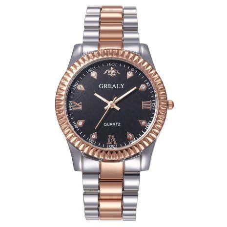 Nuevo reloj conjunto de aleación de acero correa de reloj de cuarzo al por mayor NHHK182659's discount tags