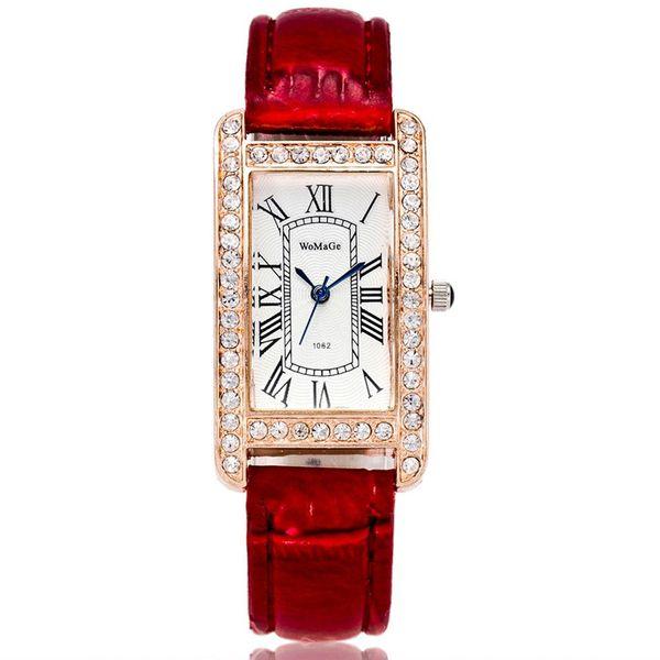 Las señoras de la moda miran la correa de reloj rectangular caliente NHSY182809