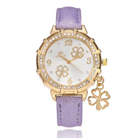 Moda simple diamante trébol colgante reloj de moda reloj de mujer caliente NHSY182819's discount tags