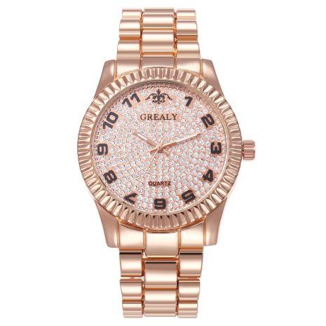 Nuevo reloj digital escala moda conjunto de aleación estrellada banda de acero reloj hombres y mujeres cuarzo tazón reloj al por mayor NHHK182646's discount tags
