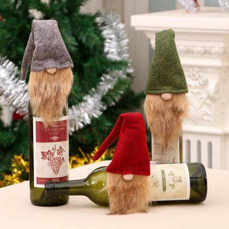 Suministros de decoración navideña conjunto de botella de vino conjunto de botella de vino de muñeco de nieve de santa bolsa de vino NHMV182591's discount tags