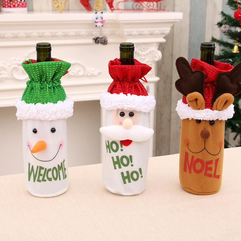 New Santa wine bottle set Christmas wine bottle decoration Christmas wine bottle bag NHMV182592