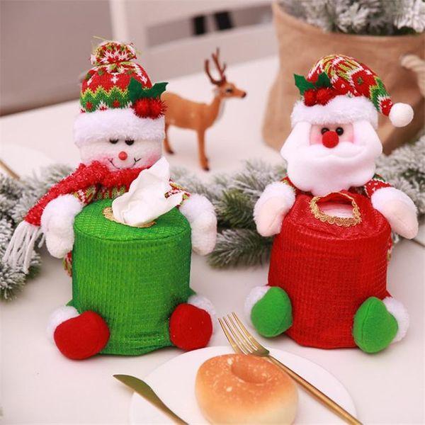 Christmas decoration supplies round tissue box storage bag supplies NHMV182599
