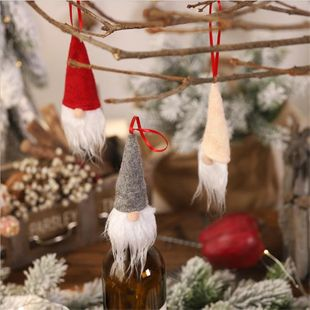 New Christmas Pendant Christmas Tree Decoration Faceless Doll Wine Bottle Cap NHMV182602's discount tags