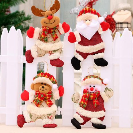 New Christmas tree accessories pendant Christmas doll dancing cloth doll small pendant gift NHMV182606's discount tags