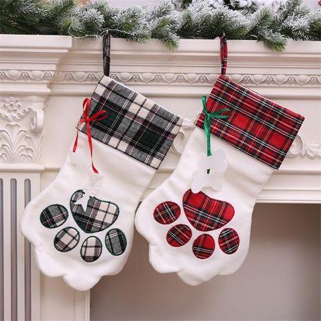 Calcetines navideños Arreglo de decoración navideña suministros Calcetines navideños bolsa de regalo colgante de árbol NHMV182610's discount tags