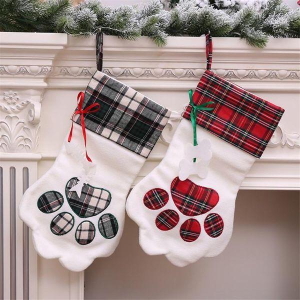 Christmas socks Christmas decoration arrangement supplies Christmas socks gift bag tree pendant NHMV182610